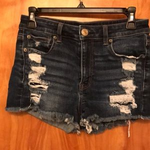 """American Eagle """"Next Level Stretch"""" Ripped Shorts"""